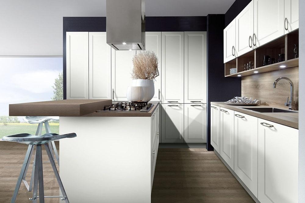 Loohuis-keukens-Klassiek moderne eilandkeuken