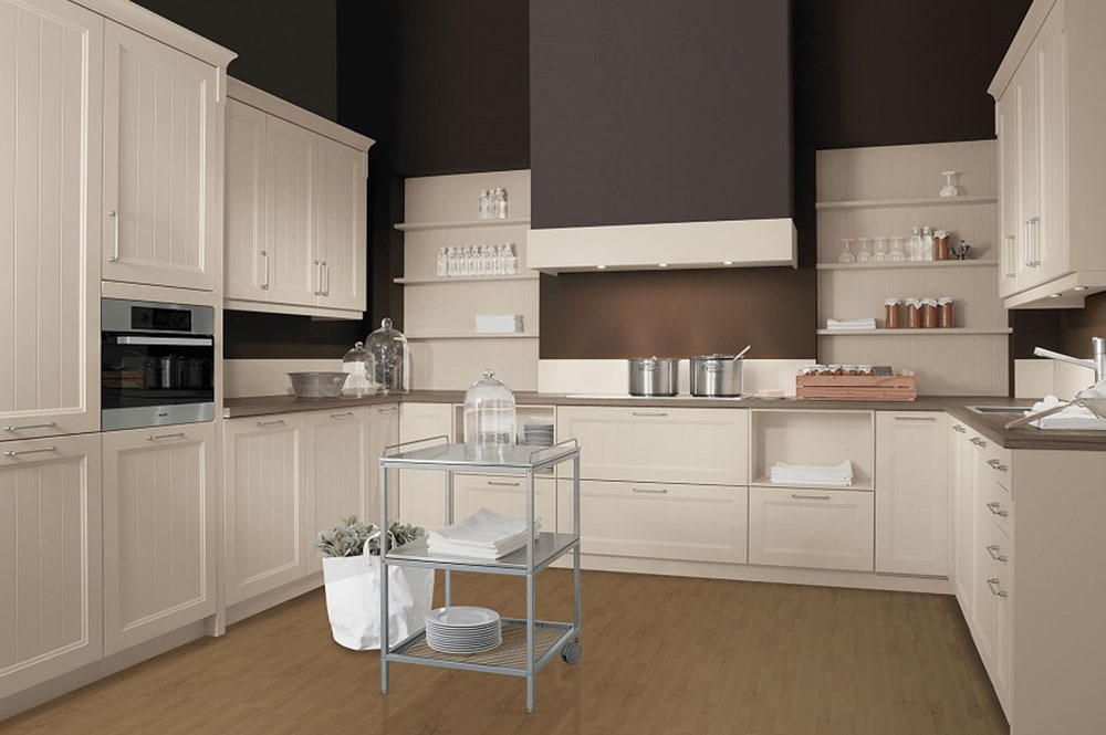 Loohuis-keukens-Landhuis keuken in U-opstelling