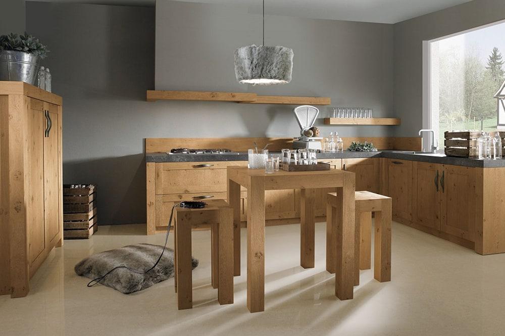 Loohuis-keukens-Stoere Klassieke Massief Houten Keuken